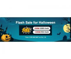 Chance for U! Get RSorder Halloween Flash Sale Free Runescape 2007 Gold on Oct 26