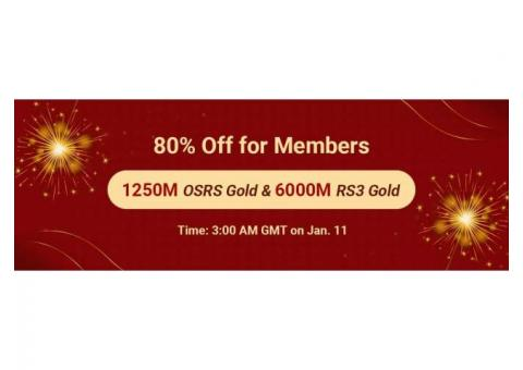 Big Discount for New Year: Acquire RS Gold with 80% Off as RSorder Members