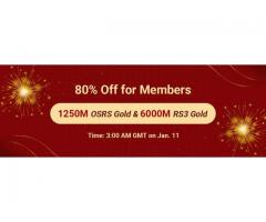 Join in RSorder Members-Only 80% Off Sale to Get RS 07 Gold on Jan 11