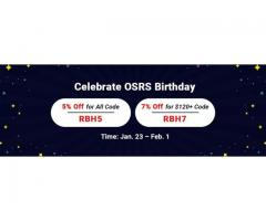 Professional Site RSorder to Get 7% Off RS 2007 Gold for OSRS Birthday 2021