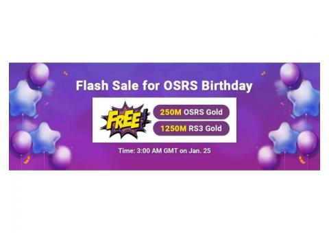 OSRS Birthday 2021 Flash Sale: Trade OSRS Gold for Sale for FREE on RSorder