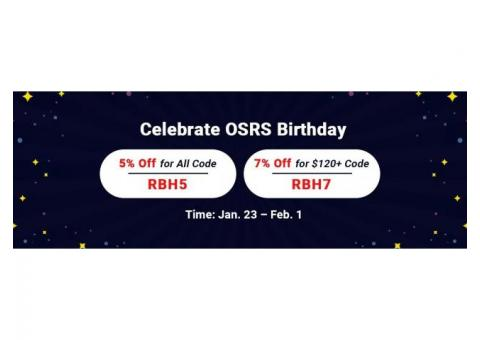 RSorder OSRS Birthday Promo: Up to 7% Off Cheap OSRS Gold & More to Get Online