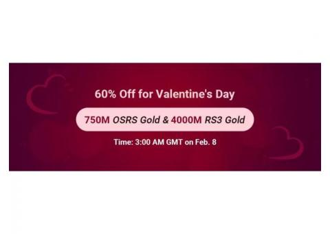 Remember the Date Feb. 8 to Receive RSorder Valentine's 60% Off RuneScape Gold
