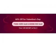 RSorder Valentine's 60% Off Sale: Enjoy 60% Off RS 3 Gold on Feb. 8